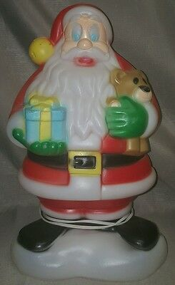 general foam plastic blow mold 18 santa clause christmas decor