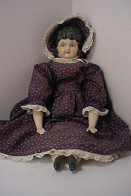 Vintage China Head Doll #5 Cloth Body