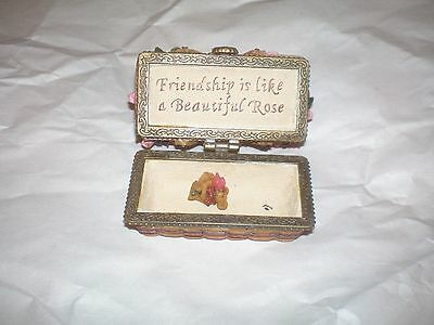 Longaberger Boyd's Bear Exclusive Treasure Box - May Series Rose