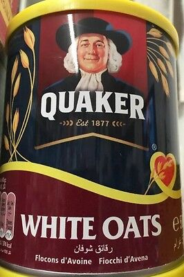 Lot Of 2 Quaker quick cooking white oats 500g (England) Free Shipping