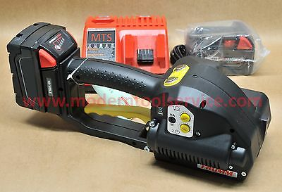 """*NEW* FROMM P-329 3/4"""" full kit 18V battery strapping tool orgapack signode"""