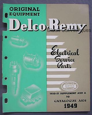 1950-51 United Mtrs Delco-Remy Electrical Service Parts Supplement Catalog USA