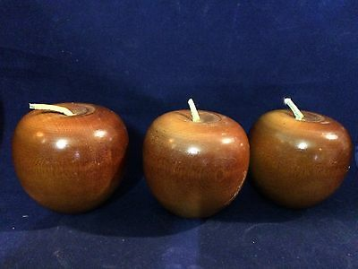 Beautiful Wood Polished Apple Home Decor With Leather Stem Approx