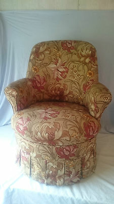 Semi High Back Arm Rests Occasional Boudoir Bedroom Hallway Lounge Chair