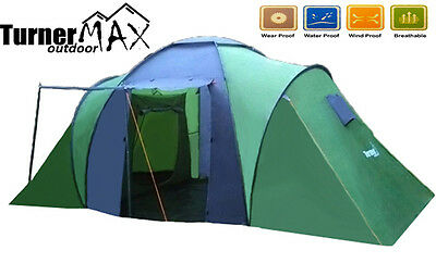 TurnerMAX Outdoor 4/6 Person Two Large Bedroom Family Camping Hiking New Tent