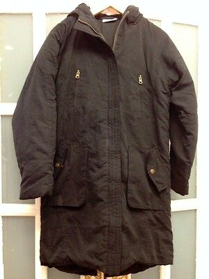 Vgc La Gear Black Treanch/mac/anorak/parka Coat Age 11=12 Yrs