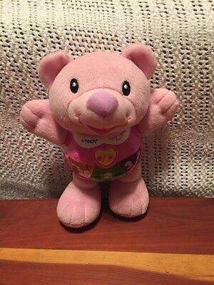 Vtech Pink Happy Lights Bear Learning Toy Numbers Music