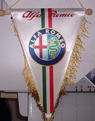 Alfa Romeo with badge Pennant flag 25 cm x17 cm