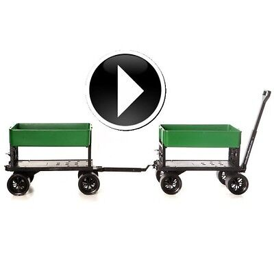 Nursery Landscape Cart Grocery Rolling Cart Indoor Outdoor Pull Wagon Carts DIY
