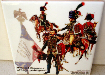 Mounted Chasseurs of the Imperial Guard~Napoleonic Wars~Beautiful CERAMIC TILE