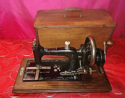 Antica macchina cucire Inglese Superba del 1890' madreperla sewing machine