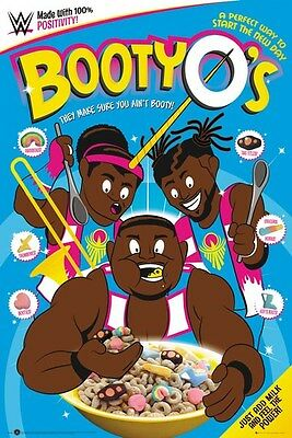 WWE ~ BOOTY O'S! ~ THE NEW DAY ~ 24x36 WRESTLING POSTER  ~ TAG TEAM CHAMPS!