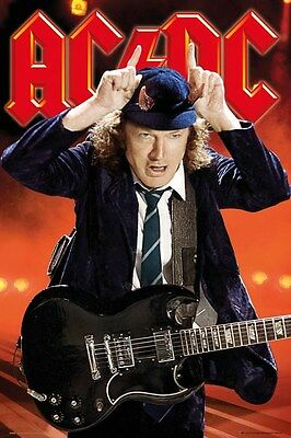 AC/DC ~ THOWING THE HORNS ~ ANGUS YOUNG ~ 24x36 Music Poster ~ new/rolled!