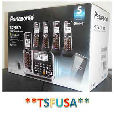 NEW Panasonic Link2Cell KX-TG7875S DECT 6.0 1.90 GHz Cordless Phone Black/Silver