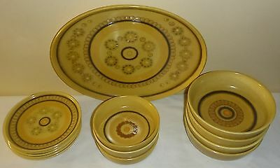 13 Pieces Of Vintage Franciscan Honeycormb Pattern Pottery Made In England