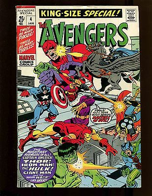 Avengers Special #4 FNVF Buscema Kirby Baron Zemo & Masters of Evil Hulk