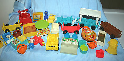 Lot 1 Fisher Price Little People Play Family Furniture Vehicles Accessories tram