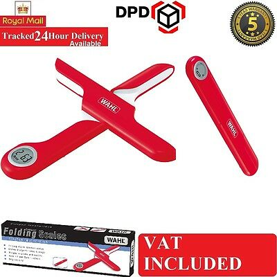 Wahl Kitchen Innovations Folding Digital RED 5kg Measuring Kitchen Scale ZX903
