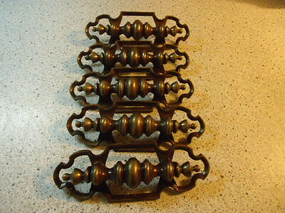 "Vintage Drawer Pulls Lot Of 5,   3 1/2"" Holes 8 1/4"" Long  (#b20"