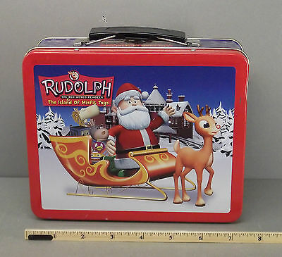 Rudolph The Red Nosed Reindeer - Metal Tin Lunchbox Tote