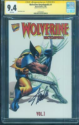 Wolverine Encyclopedia 1 CGC SS 9.4 Stan Lee signed Adam Kubert Cover no 8