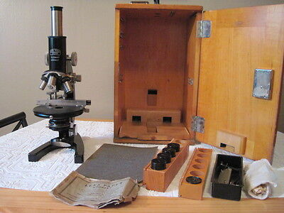 Antique Vintage 1929 Carl Zeiss Jena Microscope Nr234441  Germany