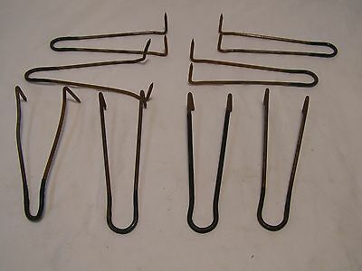 8 Vintage Copper Pipe Floor Joist Hammer In Hangers