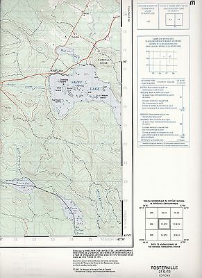 Fosterville 21 G/13 New Brunswick Eel River National Topographic Maps of Canada