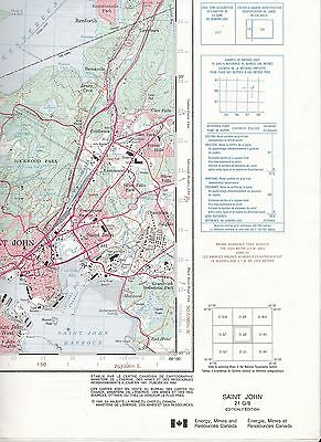 Saint John 21 G/8 Nerepis R Kings Queens National Topographic System Maps Canada