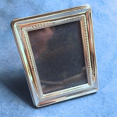 "Miniature Sterling Silver 925 Picture Frame - ""Sorolla"" -  Rectangular Fluted"
