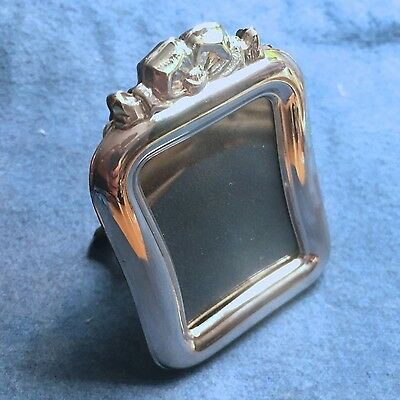 """Vintage Miniature Sterling Silver 925 Picture Frame - """"Salome"""": Rect. w/ Bow"""