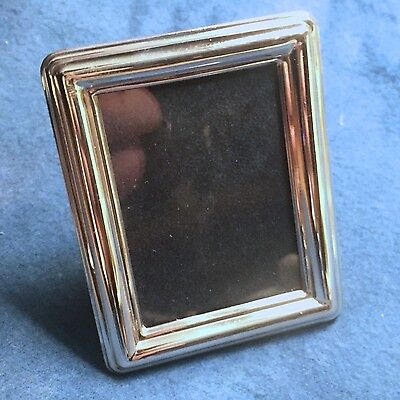 "Vintage Miniature Sterling Silver 925 Picture Frame - ""Miro"": Rectangular Plain"