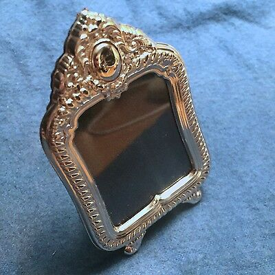 "Miniature Sterling Silver 925 Picture Frame - ""Cleopatra"" - Rectangular Ornate"