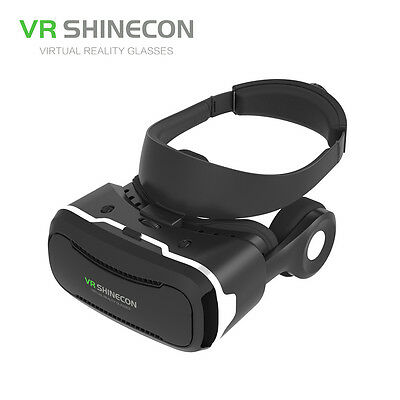 3D Detactable Headphone Virtual Reality VR Glasses For Shinecon 4.0 For Phone HG