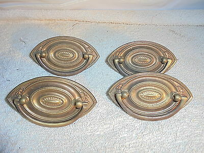Antique vintage brass drawer pulls lot of 4