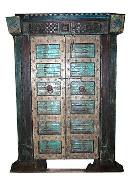 Chakra Grounding Antique Door Hand Carved Haveli Teak Wood Double Door Moroccan
