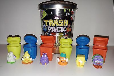 The Trash Pack Collector's Trash Can w/ 6 Trash Figurines