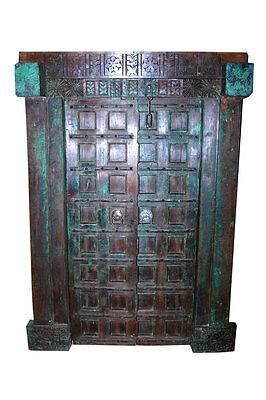 Antique Doors Gothic Medieval Castle Historic Hand Carved Teak Door