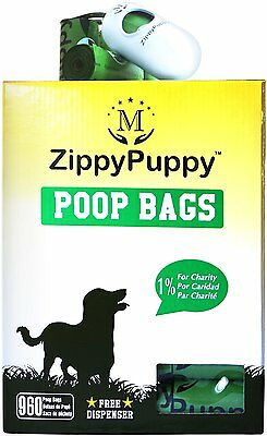 960 Quality Dog waste bags(Bag is 15 microns thick,15 bags per by ZippyPuppy,CXX