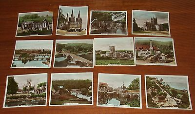12 Hill's Cigarette Cards Views Of Interest Real Photographs Inc Bath Abbey