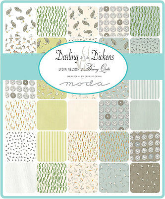 Patchwork/quilting Fabric Moda Charm Squares/packs - Darling Dickens