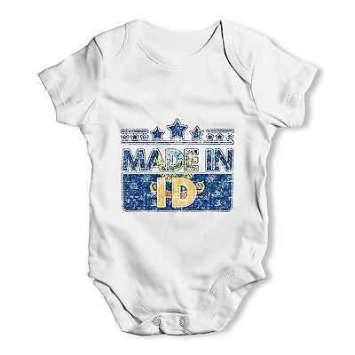 Twisted Envy Made In ID Idaho Baby Unisex Funny Baby Grow Bodysuit