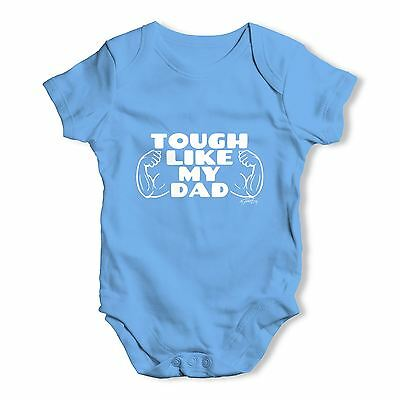 Twisted Envy Tough Like My Dad Baby Unisex Funny Baby Grow Bodysuit