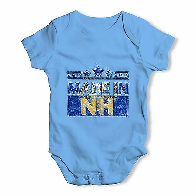Twisted Envy Made In NH New Hampshire Baby Unisex Funny Baby Grow Bodysuit