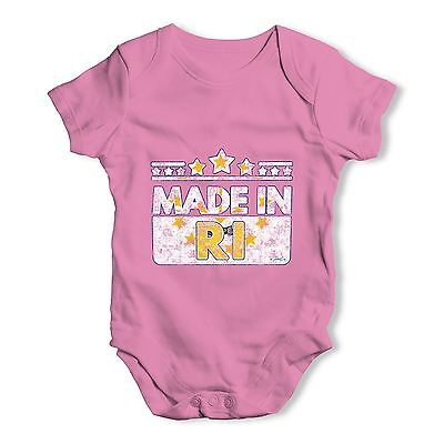 Twisted Envy Made In RI Rhode Island Baby Unisex Funny Baby Grow Bodysuit