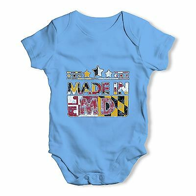 Twisted Envy Made In MD Maryland Baby Unisex Funny Baby Grow Bodysuit