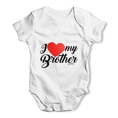 Twisted Envy I Love My Brother Baby Unisex Funny Baby Grow Bodysuit