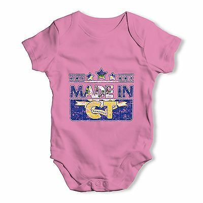 Twisted Envy Made In CT Connecticut Baby Unisex Funny Baby Grow Bodysuit