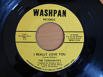 "Northern Soul Wigan Monster R&b 7"" Record I Really Love You The Tomangoe's"