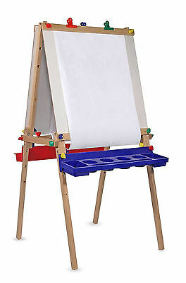 Picture Easel Stand For Kids Paint Craft Children Chalkboard & Dry Erase Board